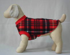 Camiseta Pet Plaid - Tam 18 ou 20