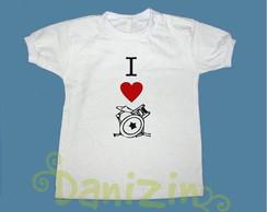T-Shirt Beb� e Infantil I S2 BATERIA