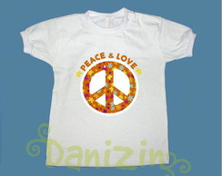 T-Shirt Beb� e Infantil PEACE & LOVE