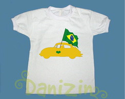 T-Shirt Beb� e Infantil FUSQUINHA BRASIL