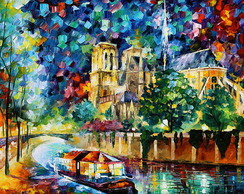 Tela Leonid Afremov - River in Paris