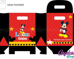 Arte digital caixa surpresa Mickey