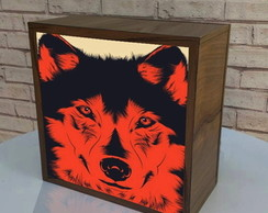 "Lumin�ria /Cubo decorativo ""Wolf"""