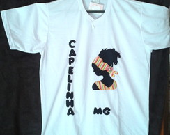 Camiseta bordada africana