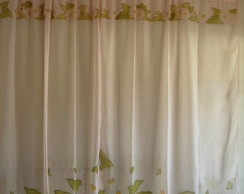 Cortina para sala/quarto Margaridas