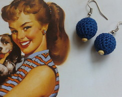 Brinco Pin Up Azul