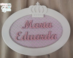 Placa Decorativa Floral