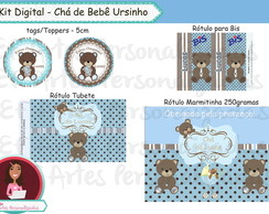 kit digital - Ch� de beb� Ursinho