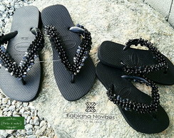 Chinelo havaiana top preto