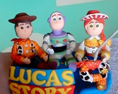 Topo de bolo turma Toy Story biscuit