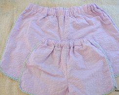 Kit Short M�e e Filha N�P/M,4/12