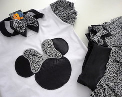 Conjunto Minnie Safari On�a Prata!!