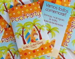 Convite Surf / Pool Party / Havaiano
