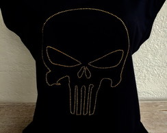 Camiseta Feminina Skull Outline Gold