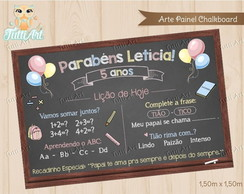 Chalkboard Painel Anivers�rio (arte)