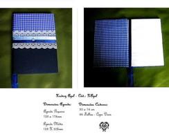 Caderno ou Agenda 2011 - Xadrez Azul