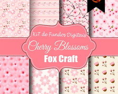 Kit de fundos Digitais - Chery Blossoms