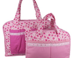 Kit Bolsas Maternidade de Patchwork Girl