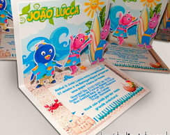 Convite Pop Up - Backyardigans no Hawaii