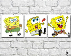 "Placa Decorativa ""Bob Esponja"""