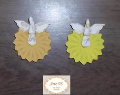 Kit de Divinos em Flores com 2 Pe�as