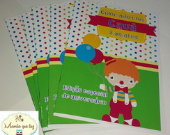 Revista de colorir - palha�o