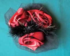 Casquete Red Flowers