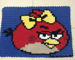 Tapete Croche Personagem ANGRY BIRD