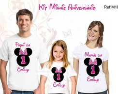 Kit3 Camisetas festa Minnie mickey