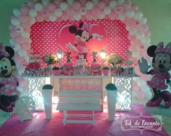 Decora��o Minnie Rosa Tok Clean Banner