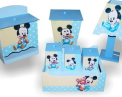 kit higiene mdf do Mikey ou Miney 8pe�as