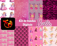 Kit de fundos Digitais - Barbie