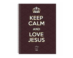 Caderneta Keep Calm and Love Jesus