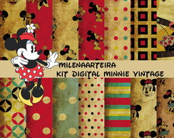 kit digital Minnie vintage