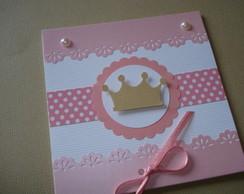Convite princesa 10x10cm fechado comprar usado  Brasil