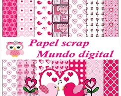 papel digital love rosa 16-11