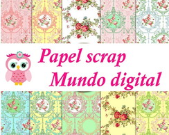 papel digital floral vintage 16-19