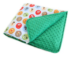 Mini edredom para beb� - Green Dots