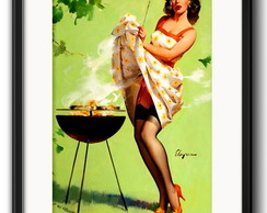 Quadro Pin Up Churrasco com Paspatur