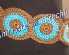 Cinto de Croch� (Marrom e turquesa)