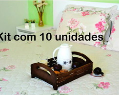 BANDEJA MDF GRANDE - KIT 10 PE�AS