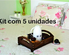 BANDEJA MDF GRANDE - KIT 5 PE�AS