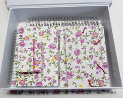 Kit Papelaria Mini flores