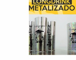 Copos Long Drink 350 Ml Metalizado