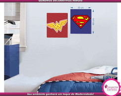 2 Quadros Super Her�is