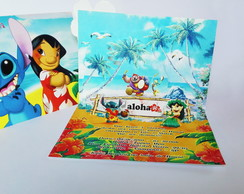 Convite Lilo e Stitch - Havaiana Pop up