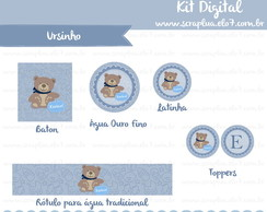 Kit Digital Urso com Coroa