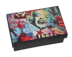 Caixa Marilyn Pop Art