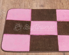 Tapete Patchwork Antiderrapante Rosa
