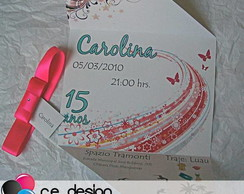 Convite 15 Anos - Carolina